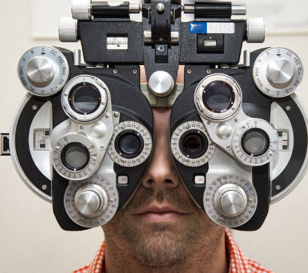 Going to the optometrist for adjustment