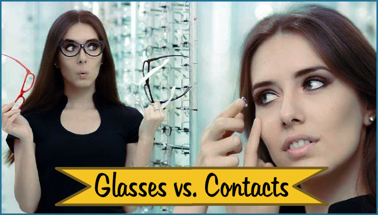 glasses vs. contact lens